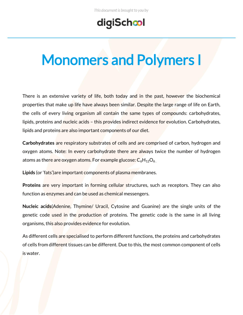 Monomers of nucleic acids are compound components 72