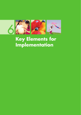 6. Key Elements for Implementation