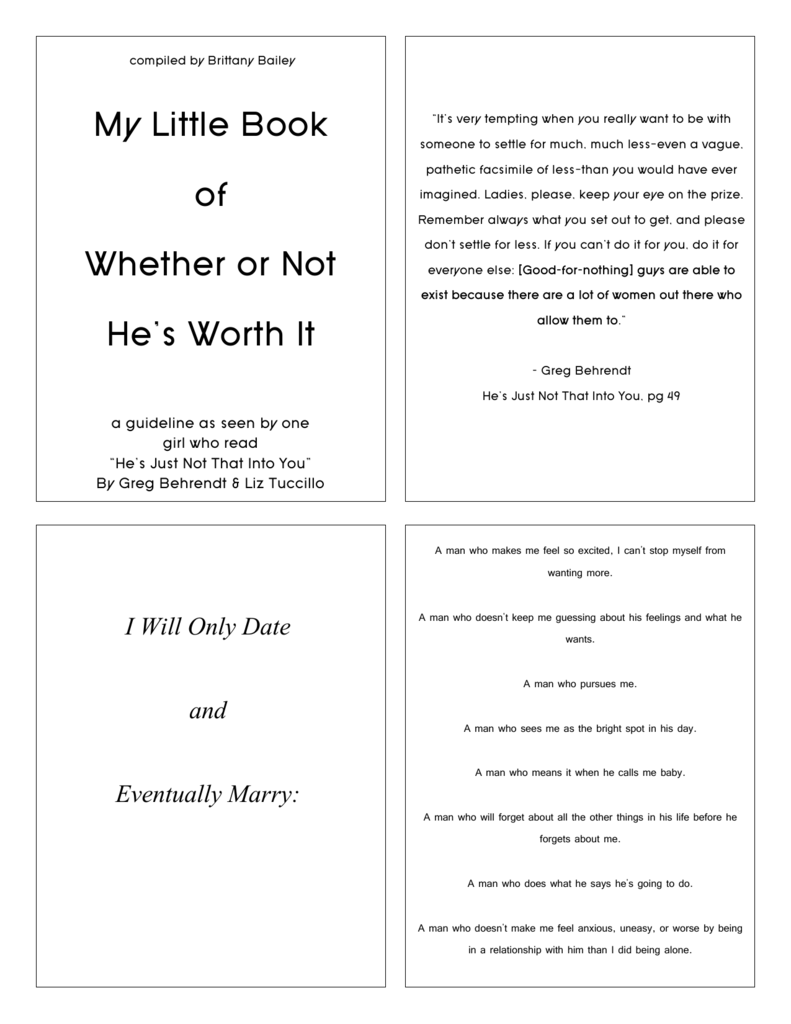 My Little Book of Whether or Not He's Worth It