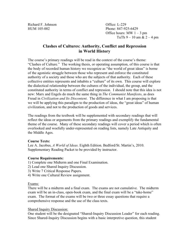 hum 105 002 harper college - Critical Response Essay Format