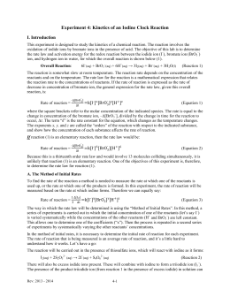 an analysis of the lab experiment determining the equilibrium constant kc And paper to laboratory l the equilibrium constant, kc, for the reaction  the purpose of this experiment is to determine the equilibrium constant for a chemical reaction  analysis shows 450 mol of b at equilibrium calculate the equilibrium.