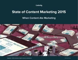 State of Content Marketing 2015 - Contently