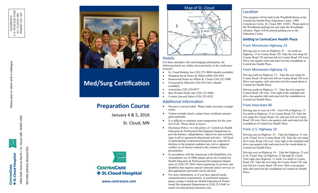 MedSurg Brochure - CentraCare Health System on st. cloud mn map, st. cloud state university map, saint cloud hospital map, cleveland hospital map, hennepin county medical center map,