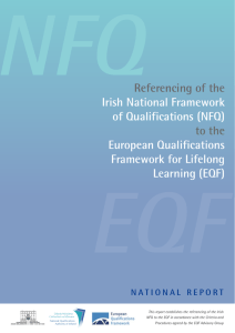 the referencing of the Irish NFQ to the EQF