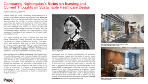 Comparing Nightingales's Notes on Nursing and Current Thoughts