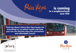 Rea Vaya launches new services