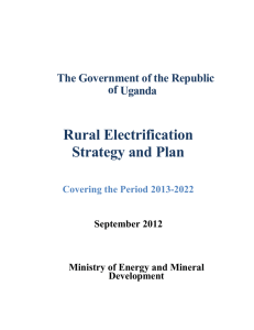indicated in REA's srategy and plan (2013-2022)