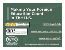 Making Your Foreign Education Count In The U.S.