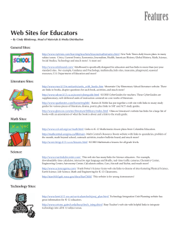Web Sites for Educators