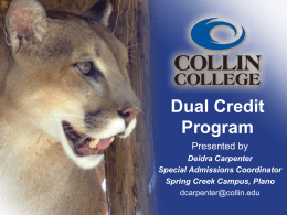 Dual Credit Information
