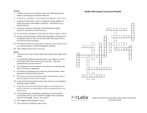 Radio Astronomy Crossword Puzzle - ASU Low