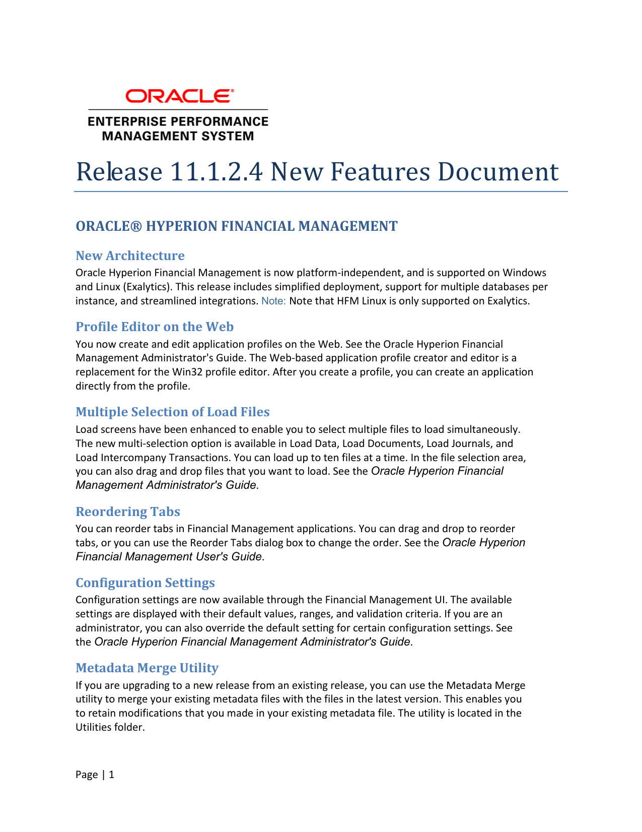 release 11 1 2 4 new features document rh studylib net oracle hyperion planning administrator's guide 11.1.2.4 hyperion database administrator's guide