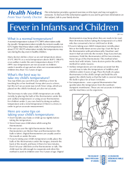 Fever in Infants and Children - The College of Family Physicians