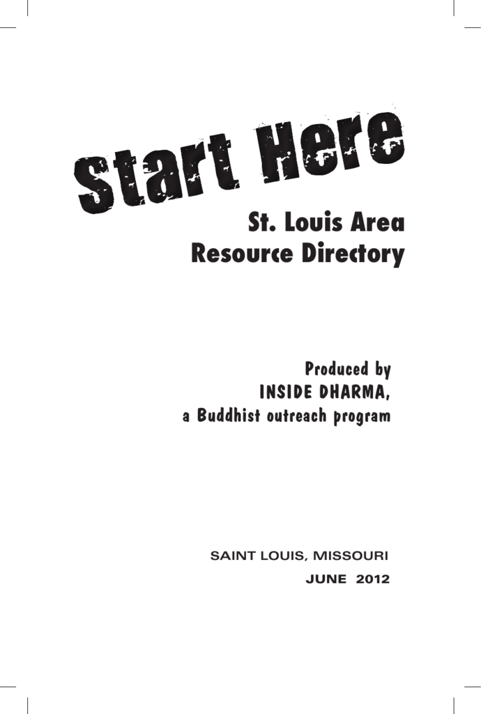 St Louis Area Resource Directory