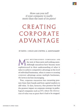 Creating a Corporate Advantage: The Case of the Tata Group