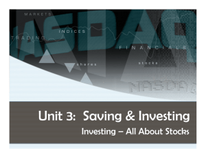 Unit 3: Saving & Investing