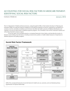 ACCOUNTING FOR SOCIAL RISK FACTORS IN MEDICARE