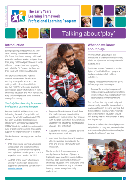 Talking about 'play' - Early Childhood Australia
