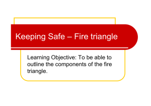 Keeping Safe – Fire triangle