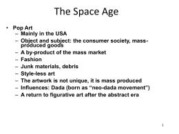 Template pop art powerpoint presentation the space age piero scaruffi toneelgroepblik Choice Image