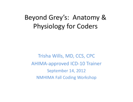 Beyond Grey's: Anatomy & Physiology for Coders
