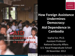 How Foreign Assistance Undermines Democracy: Aid Dependence