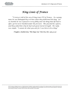 King Louis of France - Latter