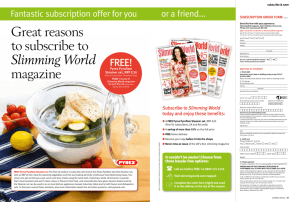 Great reasons to subscribe to Slimming World magazine
