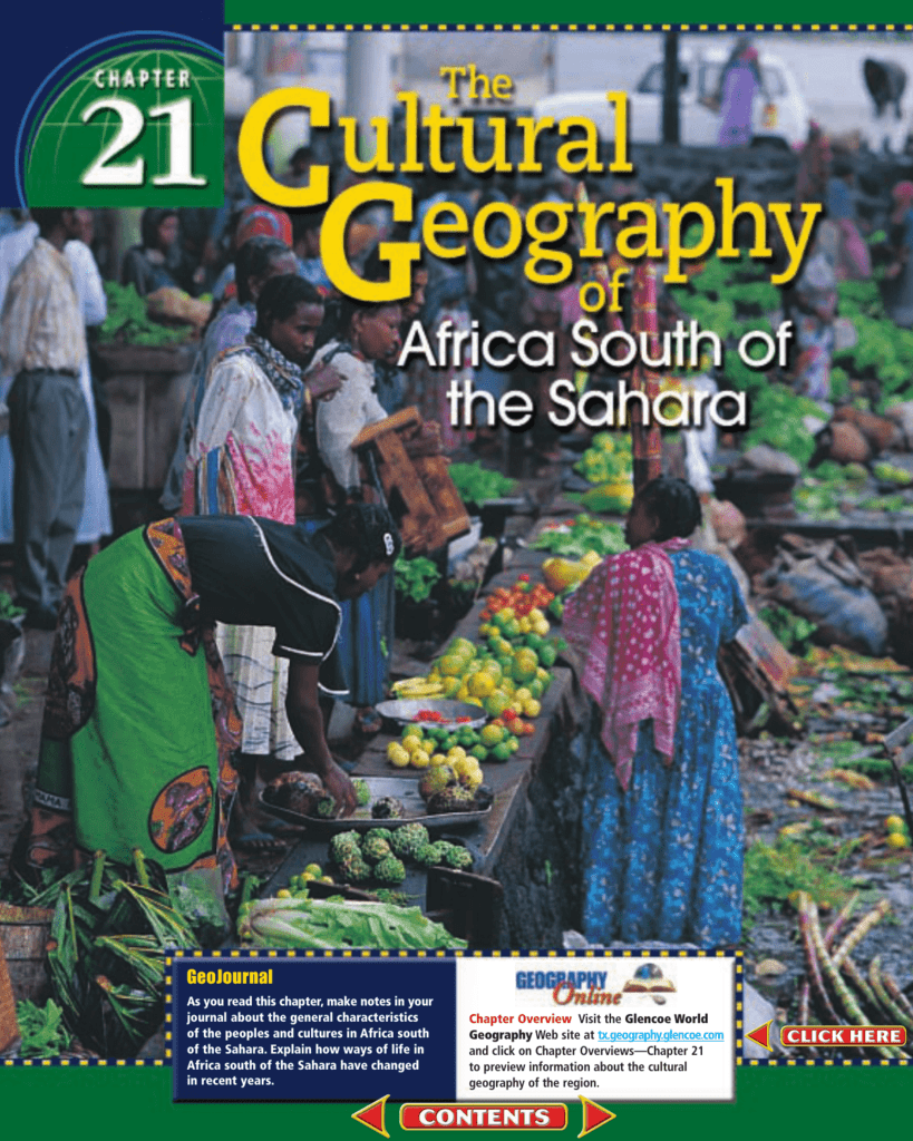Chapter 21 the cultural geography of africa south of the sahara sciox Images