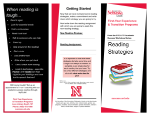 Reading Strategies Brochure - First