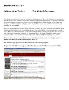 instructions for using the virtual classroom in blackboard