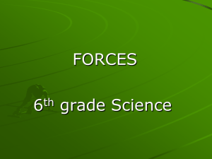 FORCES 6th grade Science