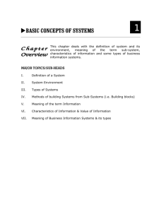 basic concepts of systems