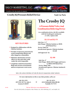 Crosby JQ Valve - Salco Products