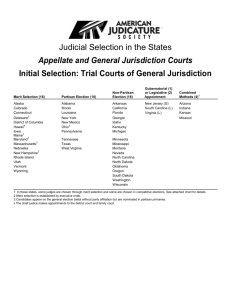 Judicial Selection in the States Appellate and General Jurisdiction
