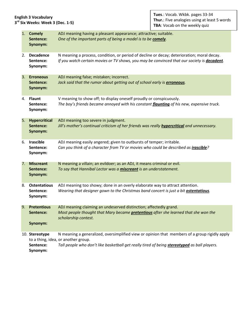 Week 3 (Dec. 1-5)