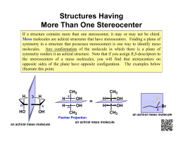 Structures Having More Than One Stereocenter