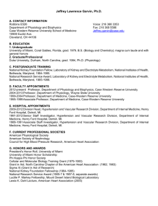 curriculum vitae - Department of Physiology and Biophysics