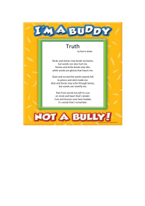 Bullying Poem - Stacy Middle School