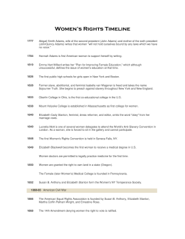 Women's Rights Timeline