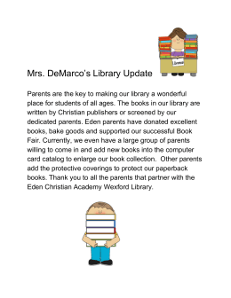 Mrs. DeMarco's Library Update