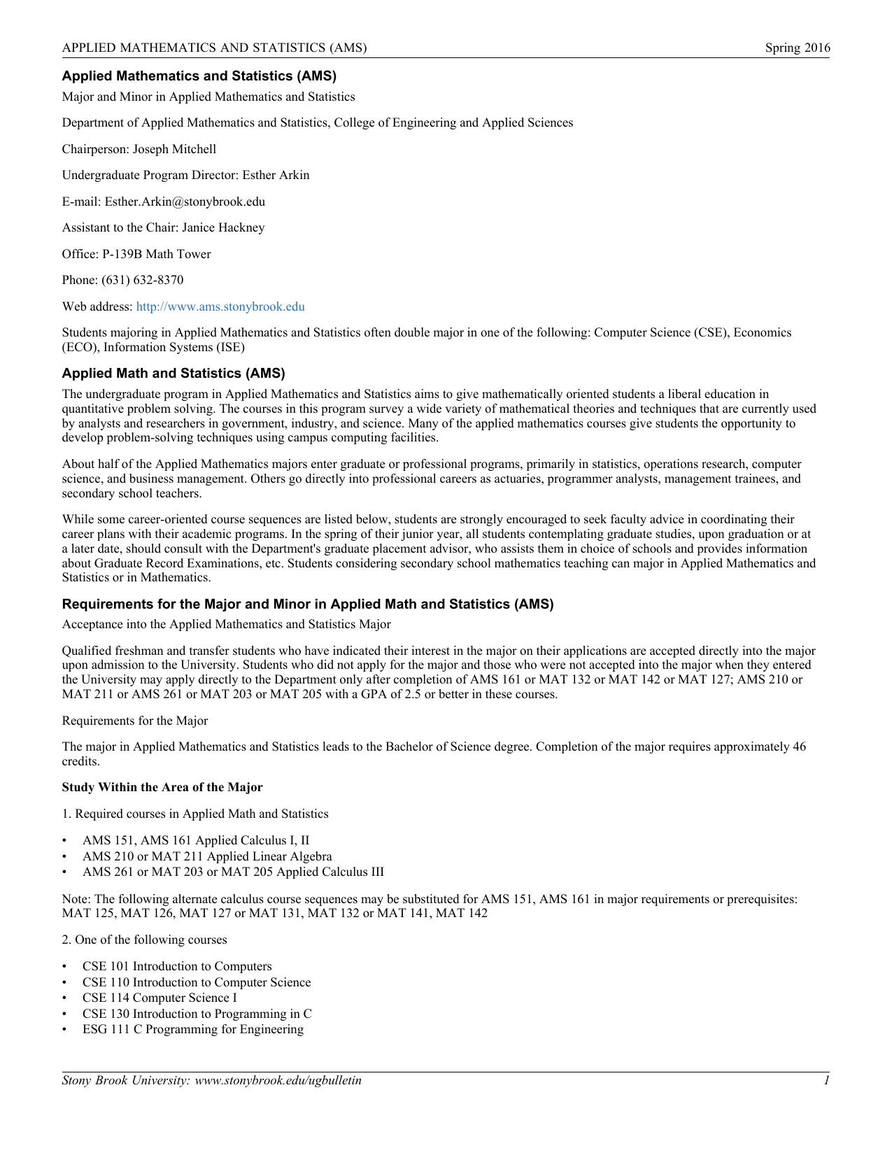 Program PDF - Stony Brook University
