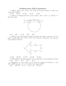 Problems from AMC12 (geometry)