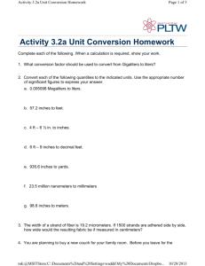 pltw activity 3.2a unit conversion homework answer key