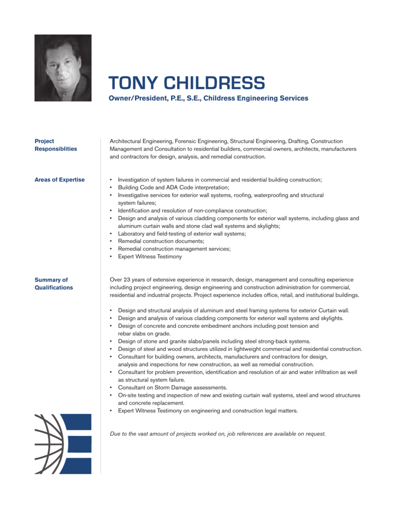 tony childress - Childress Engineering Services