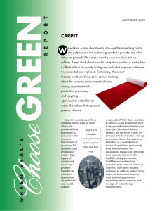 Choose Green Carpet - The Whole Building Design Guide
