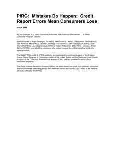 Mistakes Do Happen: Credit Report Errors Mean