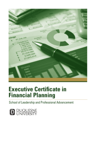 Executive Certificate in Financial Planning