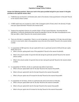 Ecology practice test ap bio pdf