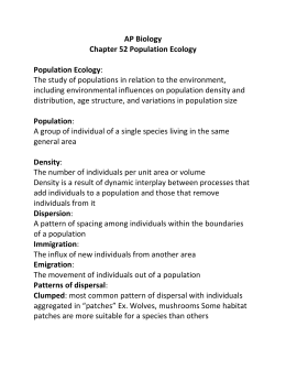 Chapter 52 Population Ecology Answer Guide